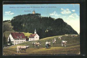 AK Etzel, Gasthof und Kapelle zum St. Meinrad mit Etzel-Kulm