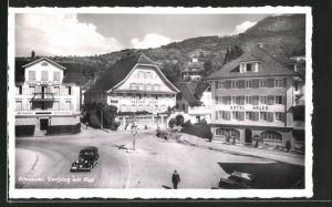 AK Küssnacht, Dorfplatz mit Rigi