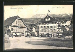 AK Küssnacht, Hotel & Pension Adler mit Rigi