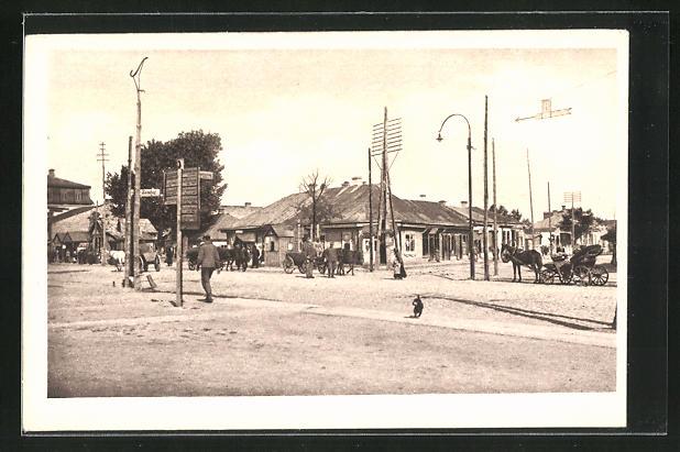 AK Kowel, Lucker Bahnhofstrasse