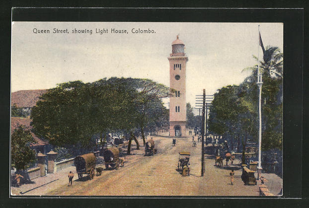 AK Colombo, Queen Street showing Light House 0