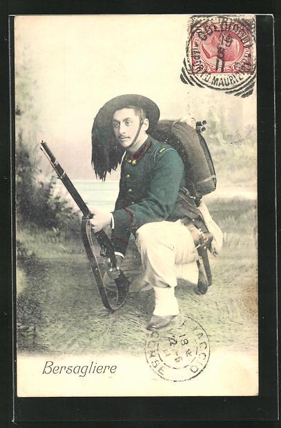 AK Bersagliere, italienischer Gebirgsjäger, Uniform