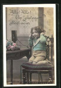 AK Allo! Allo! Un souvenir affectueux, Kind an Telefon