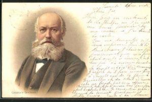 Lithographie Charles Gounod, Portrait des Komponisten