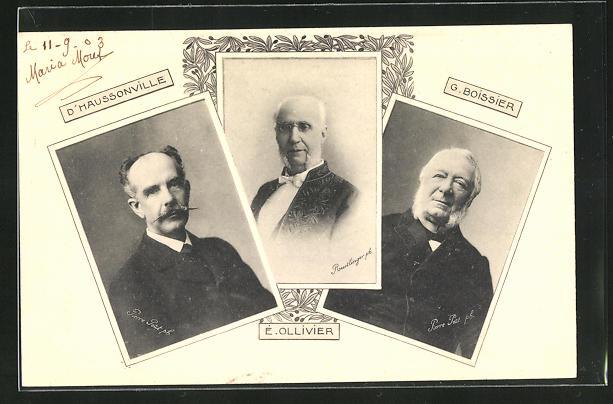 AK D`Haussonville, É. Ollivier und G. Boissier