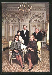 AK Le Prince Souverain et la Princesse Grace, Le Prince Héréditaire, la Princesse Stéphanie