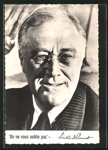 AK Präsident der USA Franklin Roosevelt