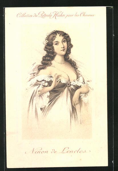 AK Portrait Ninon de Lendos von Frankreich