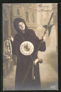 AK Nachtwächter mit Uhr & Lampe