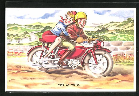 AK Vive la Moto, Paar fährt Motorrad