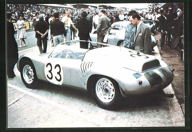 AK Les Mutuelles du Mans, 1960 Porsche no 33 de Bonnier et Hill, Rennwagen