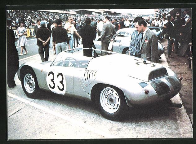AK 24 Heures du Mans 1985, 1960 Porsche no 33 de Bonnier et Hill, Rennwagen, Startnummer 33