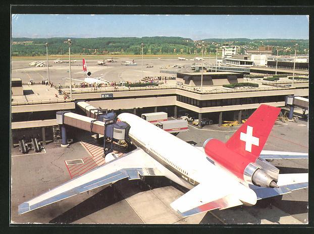 AK Zürich, Swissair Maschine am Flughafen