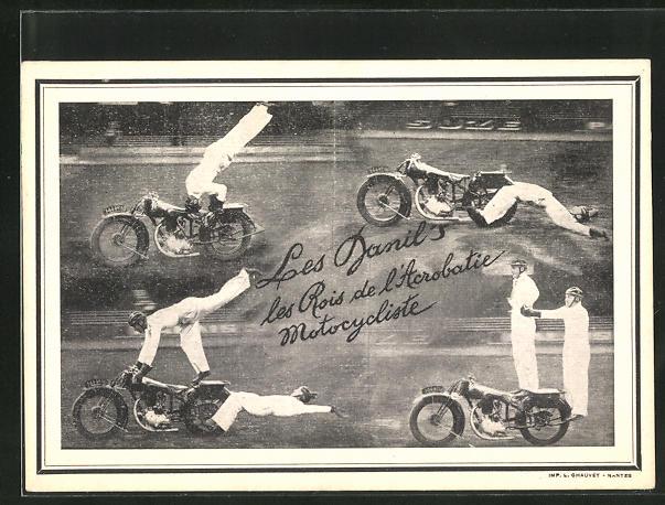AK Les Danils, les Rois de l`Acrobatique Motorcycliste, Motorrad-Akrobatik, Stuntmen