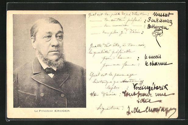 AK Le President Kruger, Burenkrieg