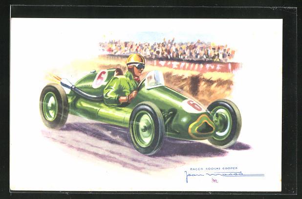 AK Jean Massa im Racer 500cm3 Cooper beim Autorennen