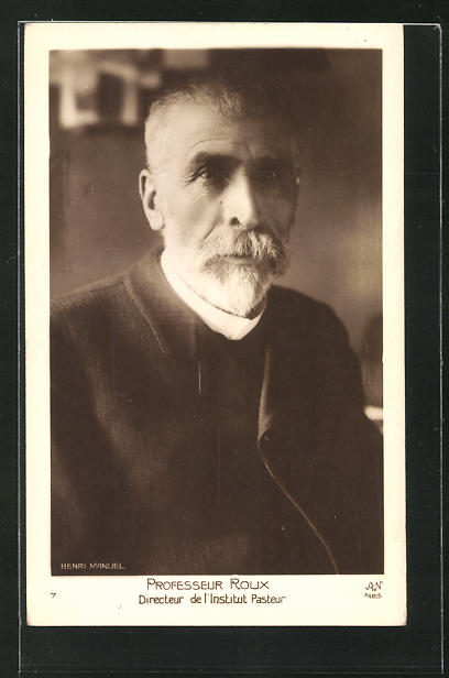 AK Portrait Professeur Roux, Directeur de l`institut Pasteur 0