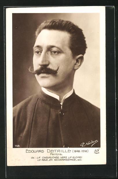AK Bildnis des französischen Malers Edouard Detaille