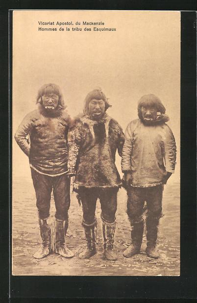 AK Hommes de la tribu des Esquimaux 0