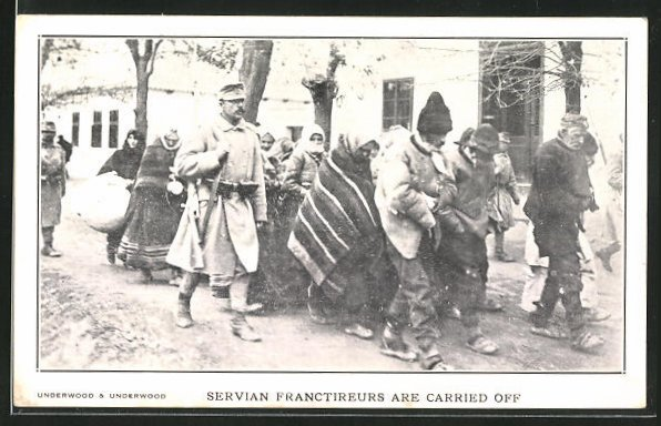 AK Servian Franctireurs are carried off 0