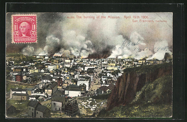 AK San Francisco, The burning of the Mission 1906 0