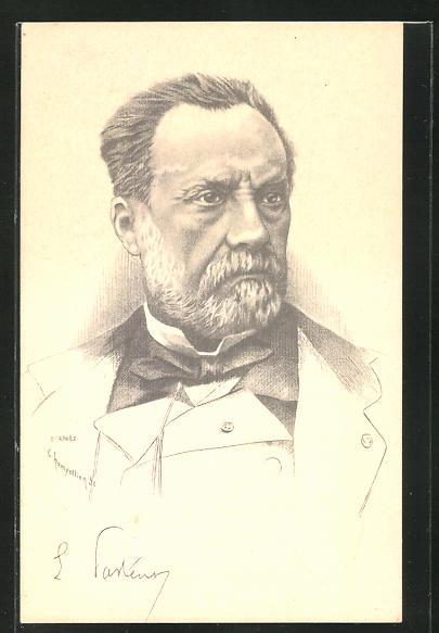 Künstler-AK Champollion: Louis Pasteur, Portrait des Gelehrten 0