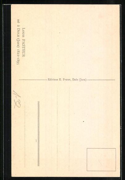 Künstler-AK Champollion: Louis Pasteur, Portrait des Gelehrten 1
