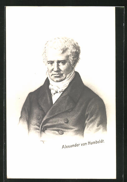 AK Alexander von Humboldt, Portrait des Forschers 0