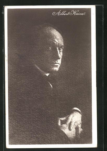 AK Albert Heine, stimmungsvolles Portrait des Schauspielers 0