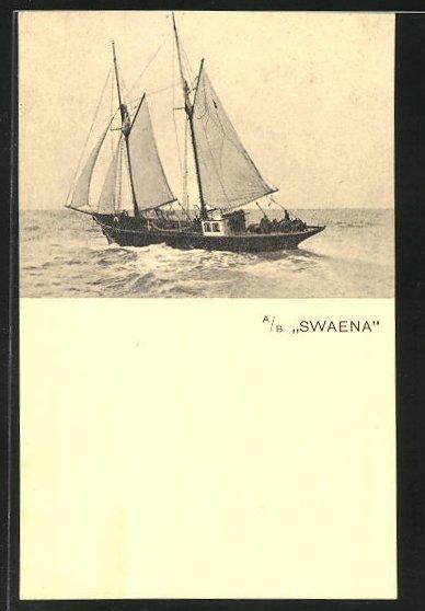 AK A/B Swaena, Segelschiff auf dem Wasser 0