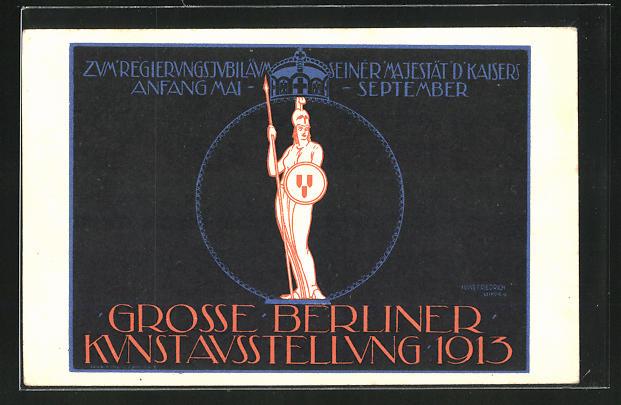 Künstler-AK Berlin, Grosse Kunstausstellung 1913 0