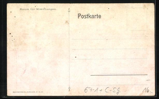 AK St. Gallen, Kantonale landwirtschaftliche Ausstellung 1907, Prämierter Zuchtbulle 1
