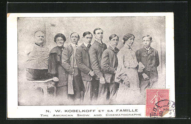 AK N. W. Kobelkoff et sa Famille, The American Show and Cinematographe 0