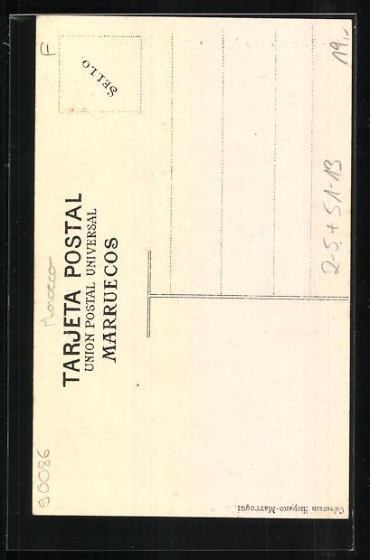 AK Tanger, Tipo Riffeno, Junger Ansichtskartenverkäufer mit Gewehr 1