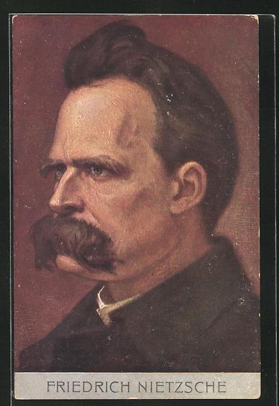 Künstler-AK Portrait Friedrich Nietzsche, Philosoph 0