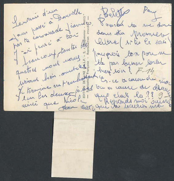 Leporello-AK Deauville-Trouville, Paar im Ruderboot, le Casino, les Planches, Trouville Golf Miniature 1