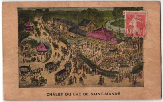Holz-AK Saint-Mandé, Gasthaus Chalet du Lac 0