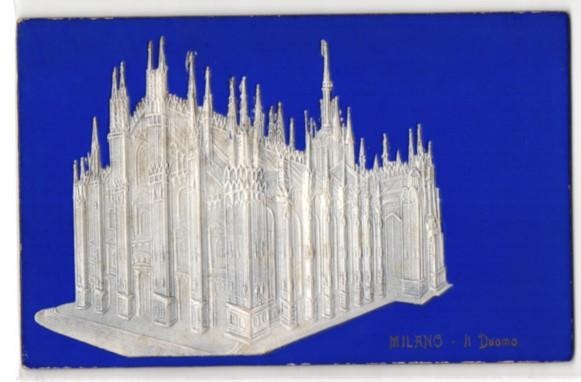 Relief-AK Milano, Il Duomo, Darstellung des Domes 0