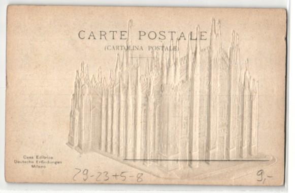 Relief-AK Milano, Il Duomo, Darstellung des Domes 1