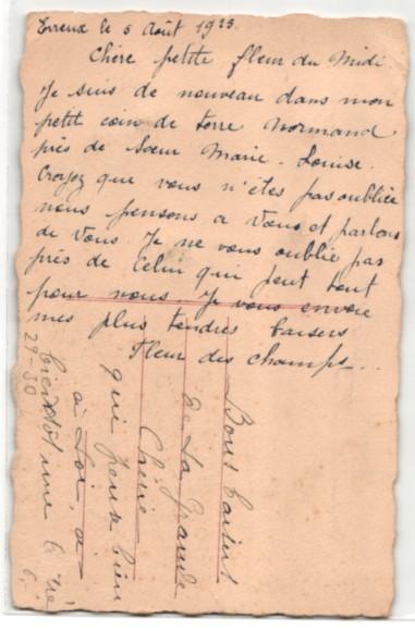 Trockenblumen-AK Getrocknete und gepresste Gänseblümchen, Vers von Victor Hugo 1