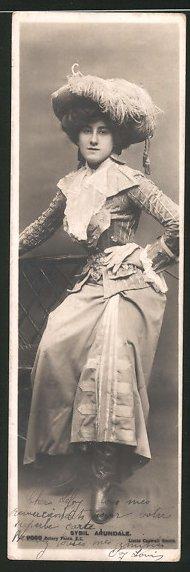 Mini-AK Portrait der Schauspielerin Sybil Arundale 0