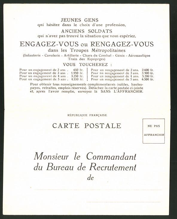 Klapp-Künstler-AK sign. R. de Valerio: Engagez-vous dans les Troupes, Einberufungs-Erklärung, Soldat im Tank 1