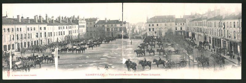 Klapp-AK Lunéville, Vue panoramique de la Place Léopold 0