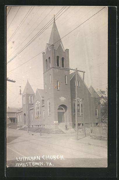 Foto-AK Johnstown, PA, Lutheran Church 0