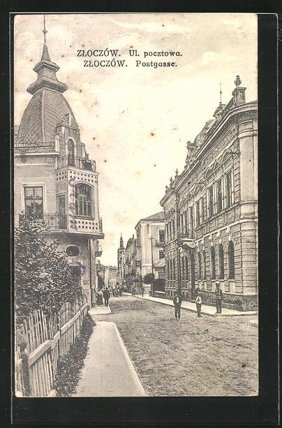 AK Zloczow, Ul. pocztowa