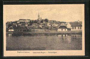 AK Szàszrègen, Ansicht des Ortes