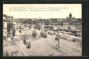 AK St. Petersbourg, Vue gènèrale prise de Vassily-Ostrov