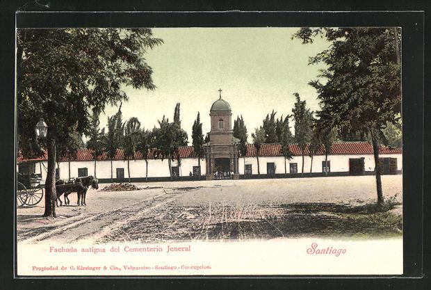 AK Santiago, Fachada antigua del Cementerio Jeneral 0
