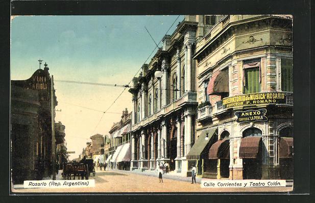 AK Rosario, Calle Corrientes y Teatro Colòn 0