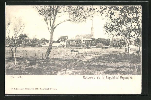 AK San Isidro, Blick zum Ort mit Kirche 0